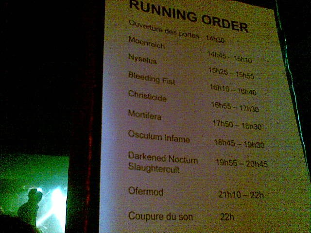 Black Metal is Rising 6, running order