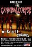 Cannibal Corpse - Flyer Lyon 27.02.07