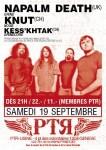 NAPALM DEATH + KNUT + KESS'KHTAK : Genève, 19 septembre 2009