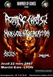 Rotting Christ - Flyer Lyon 22.03.07
