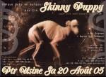 Skinny Puppy flyer - Genève 20.08.05