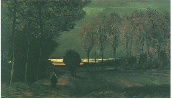 Autumnal Landscape at Dusk, Van Gogh, 1885