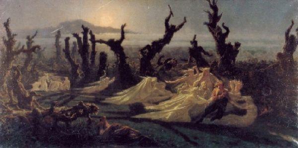 Les Lavandières de la Nuit, Jean-Edouard (Yann) Dargent, 1861