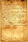When I come to be old, Manuscrit de Jonathan Swift, 1699